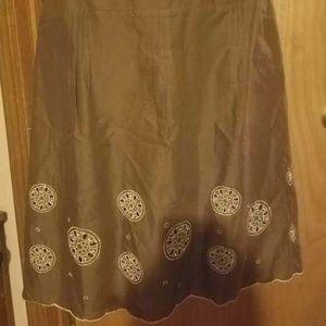 Ann Taylor LOFT Embroidered Skirt